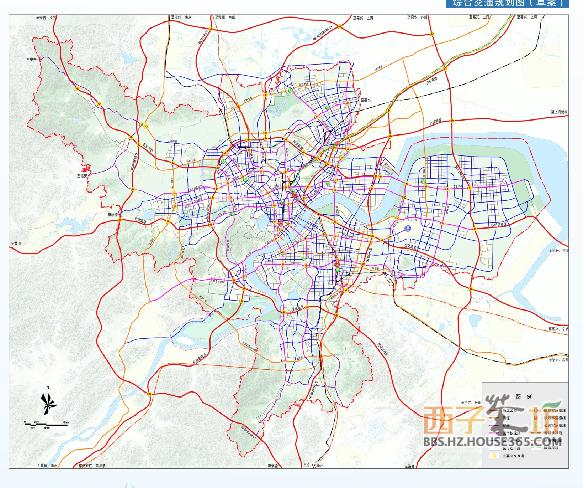 杭州市城市总体规划图老余杭规划结构图