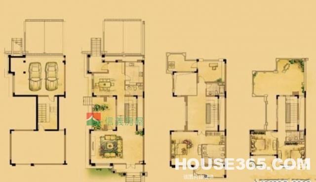 信义房屋,半岛华府,稀缺双拼别墅,超豪华精装修,楼间距超级大
