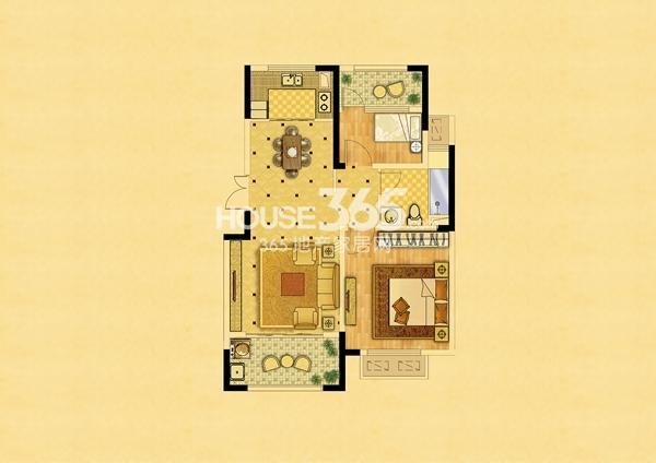 两楼两室两厅家装平面设计图展示