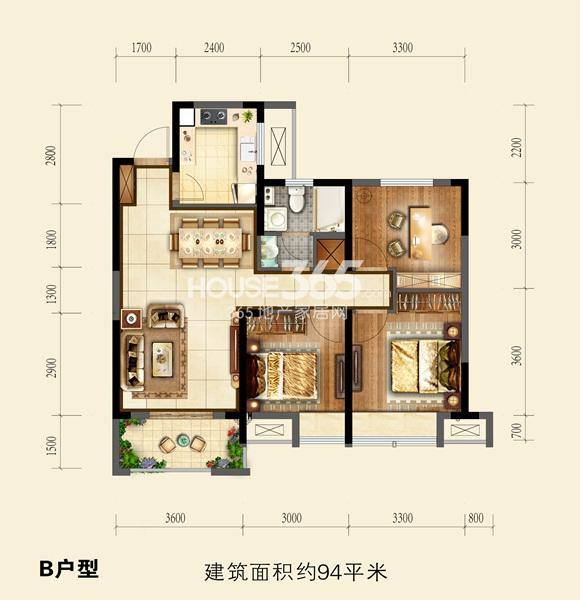 国祯广场户型图 B 94