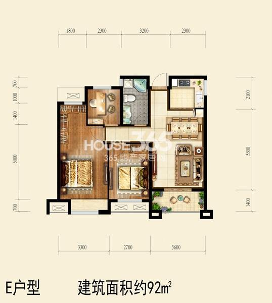 国祯广场户型图 E 92