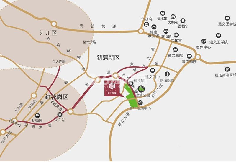 中建幸福城交通图