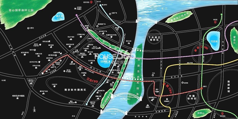 中科创新广场交通图