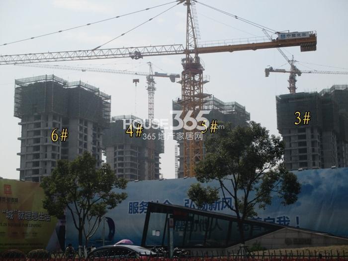 理想银泰城项目3—6号楼施工进程图(2015.3)