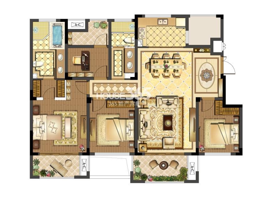 保利独墅西岸湖院二期户型图142平