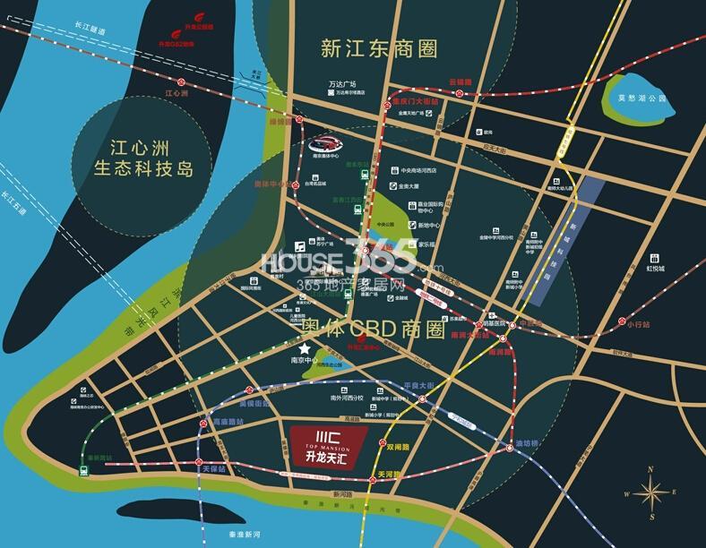 升龙天汇交通图