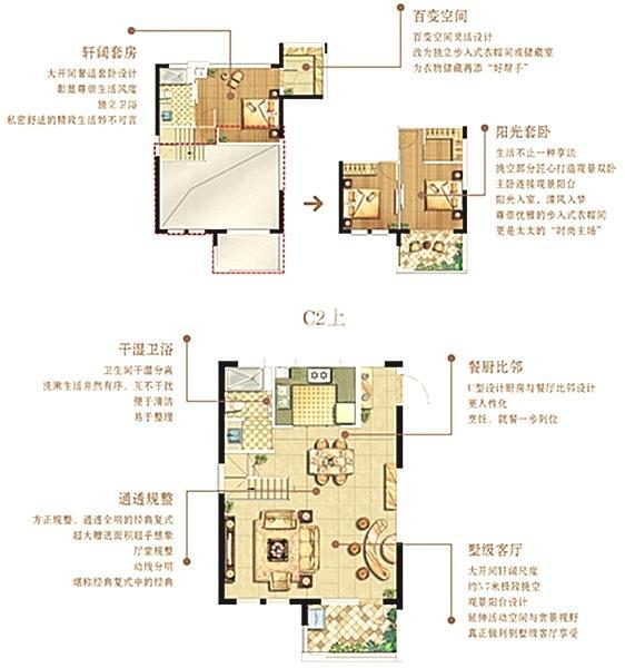绿地悦峰公馆C2户型105㎡