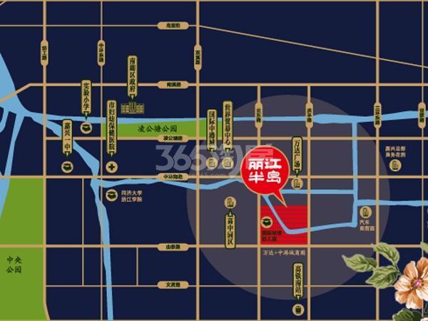 丽江半岛交通图
