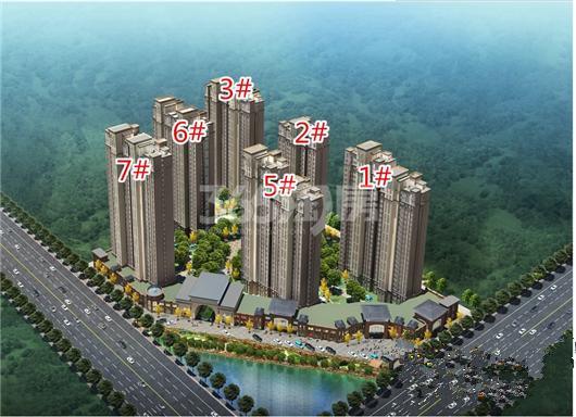 华天公馆鸟瞰图