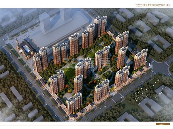 汇智五洲城鸟瞰图