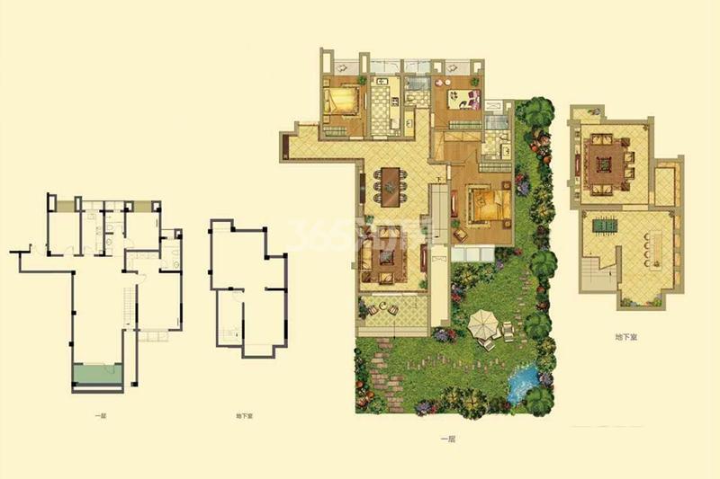 招商雍和苑洋房A户型208㎡4室3厅2卫