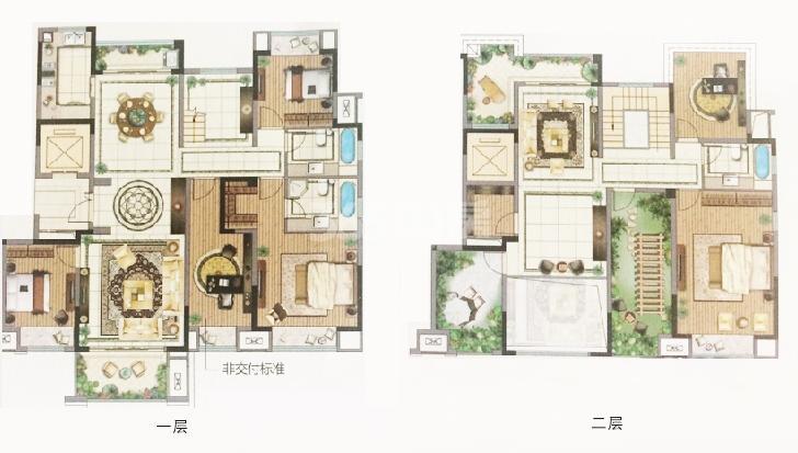 中旅狮山名门4号楼B户型面积270㎡6室3厅3卫