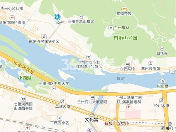 黄河春城交通图