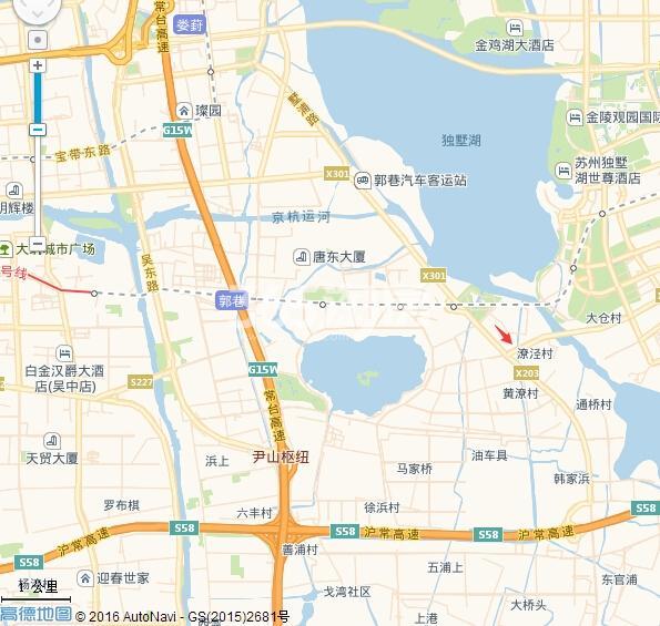 建发独墅湾交通图