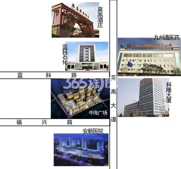 中海广场交通图