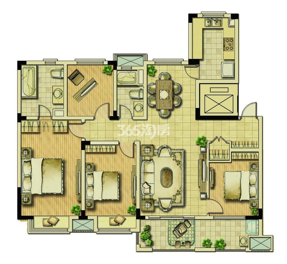 耘林生命公寓一期133平D户型