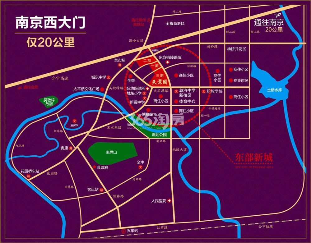 正东凯旋名门交通图