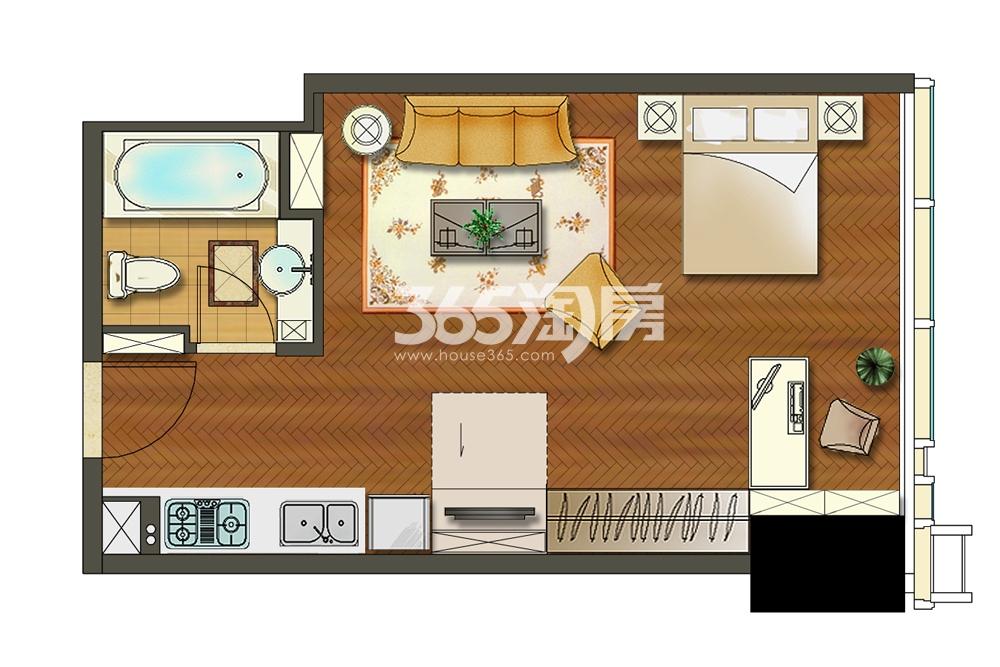苏宁广场酒店式公寓A1户型