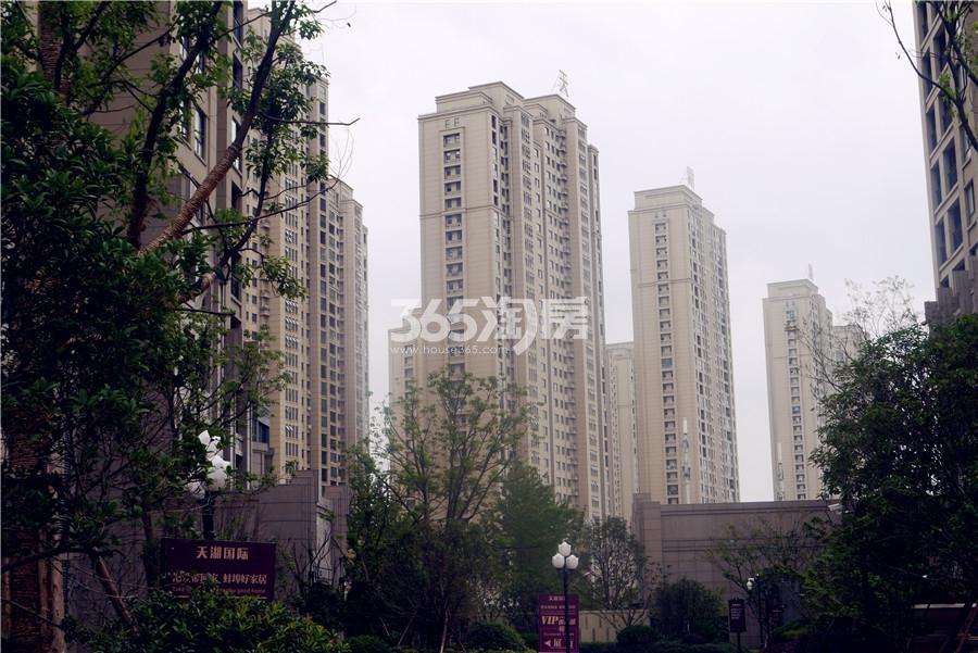天湖国际小区实景图