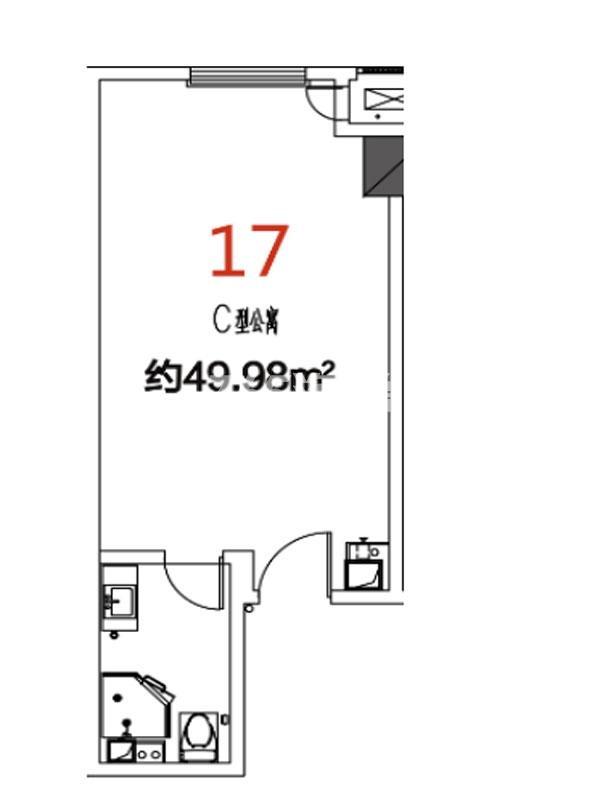 17户型49.98平米