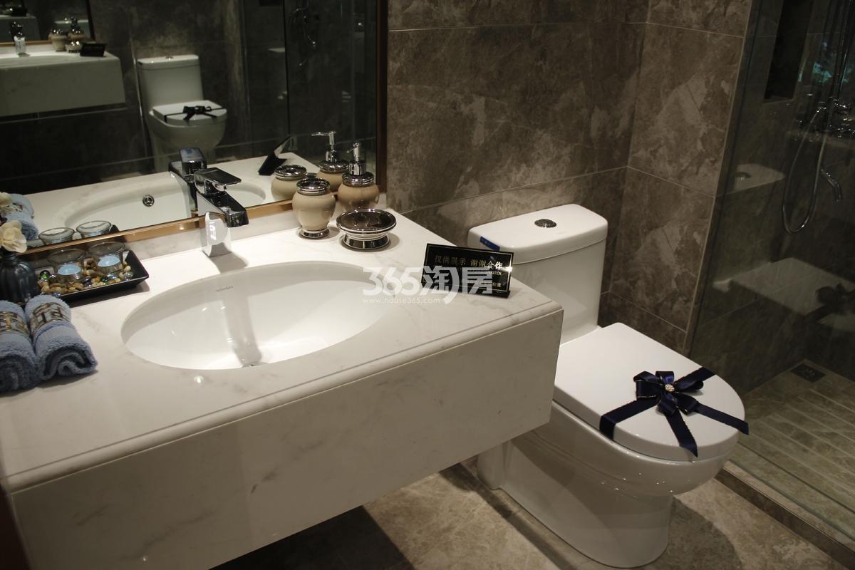 中梁百悦城90方样板房——卫生间