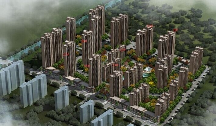 保利鑫城三、四期鸟瞰图