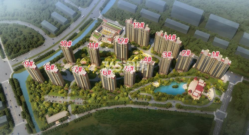 商业:恒大商业中心 住宅:澜玉水晶熙园鸟瞰图