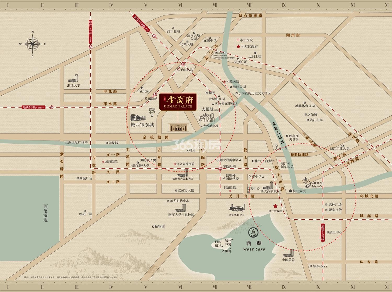 首开杭州金茂府交通图