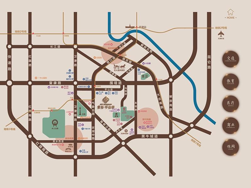 金地平山印交通图