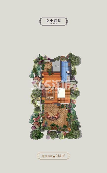永威高新紫园空中庭院4室4厅5卫1厨 214.00㎡