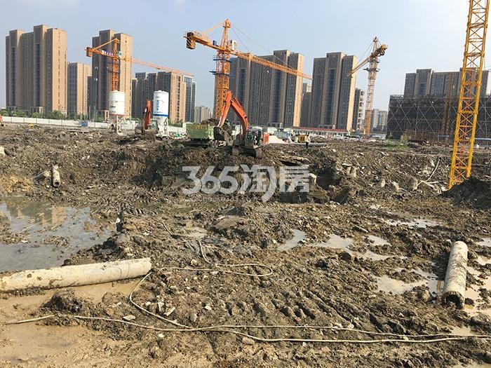 中国铁建西湖国际城施工现场(2017.4)
