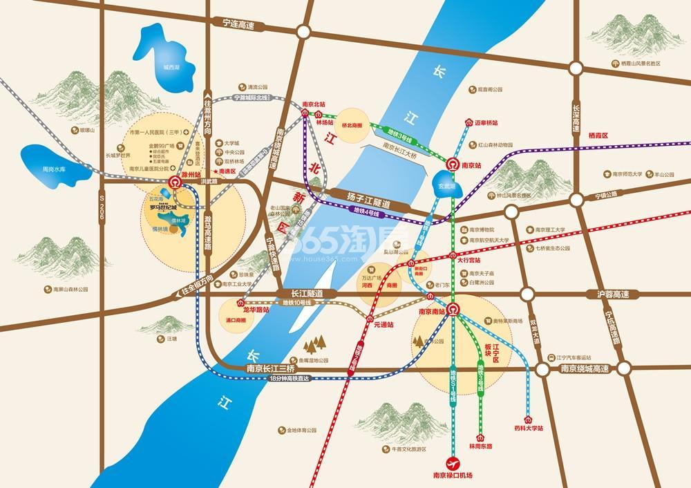碧桂园奥能罗马世纪城交通图