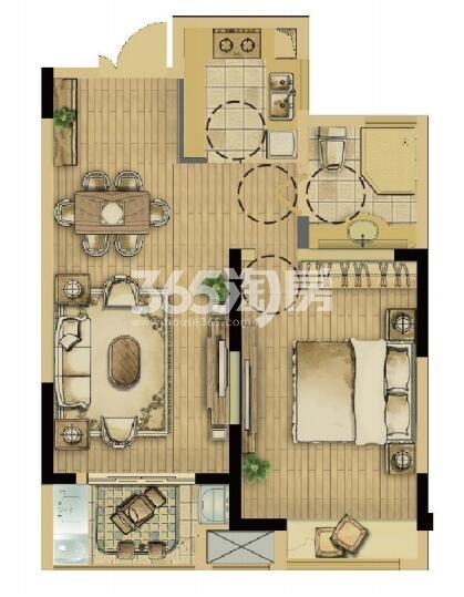 耘林生命公寓二期70平带装修户型