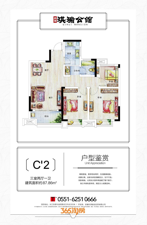 尚泽琪瑞公馆87㎡C2户型