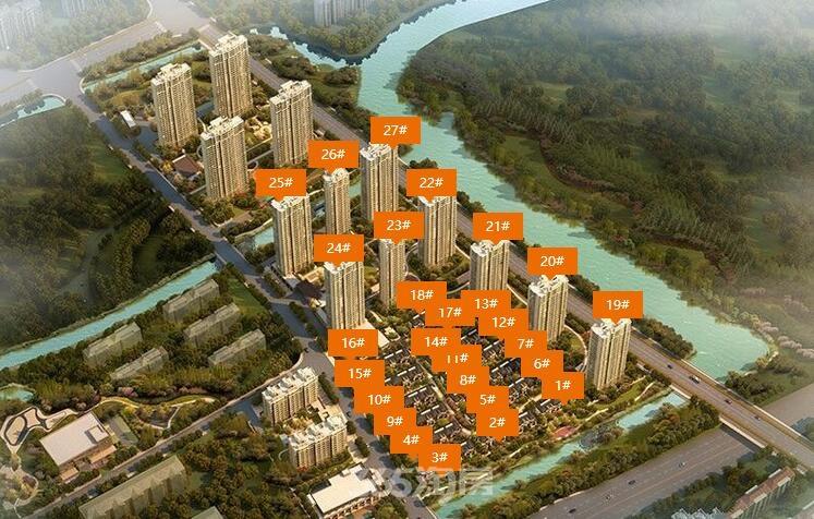 新城香悦公馆一期高层和排屋楼栋分布图