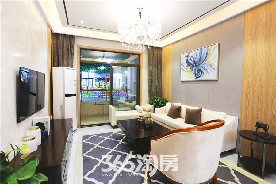 翰林公馆G1户型100㎡样板间-客厅