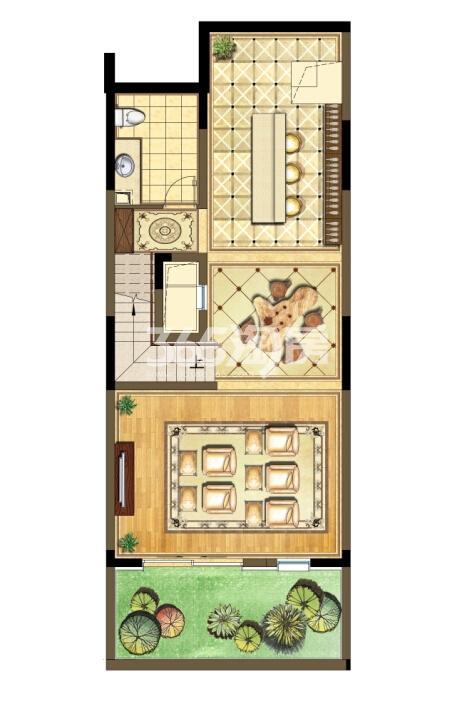 瑞安翠湖山西边02室224㎡C户型地下层