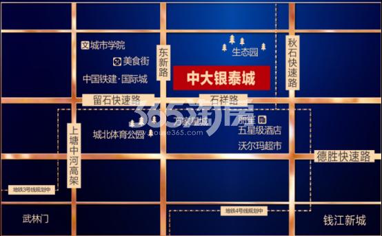 阳光银泰城交通图