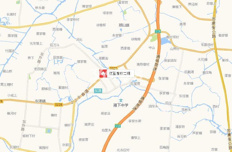 红豆首府二期交通图