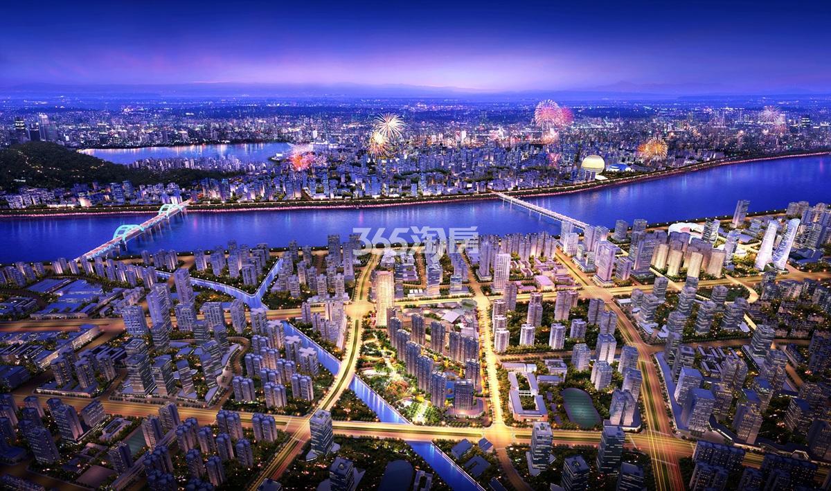 龙湖郦城公馆鸟瞰图