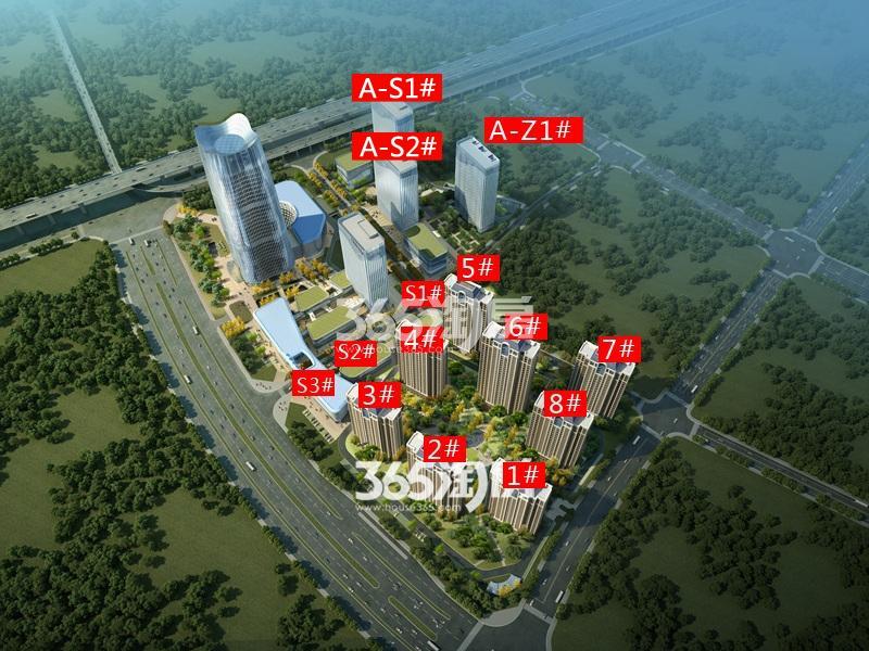 恒大水晶国际广场鸟瞰图
