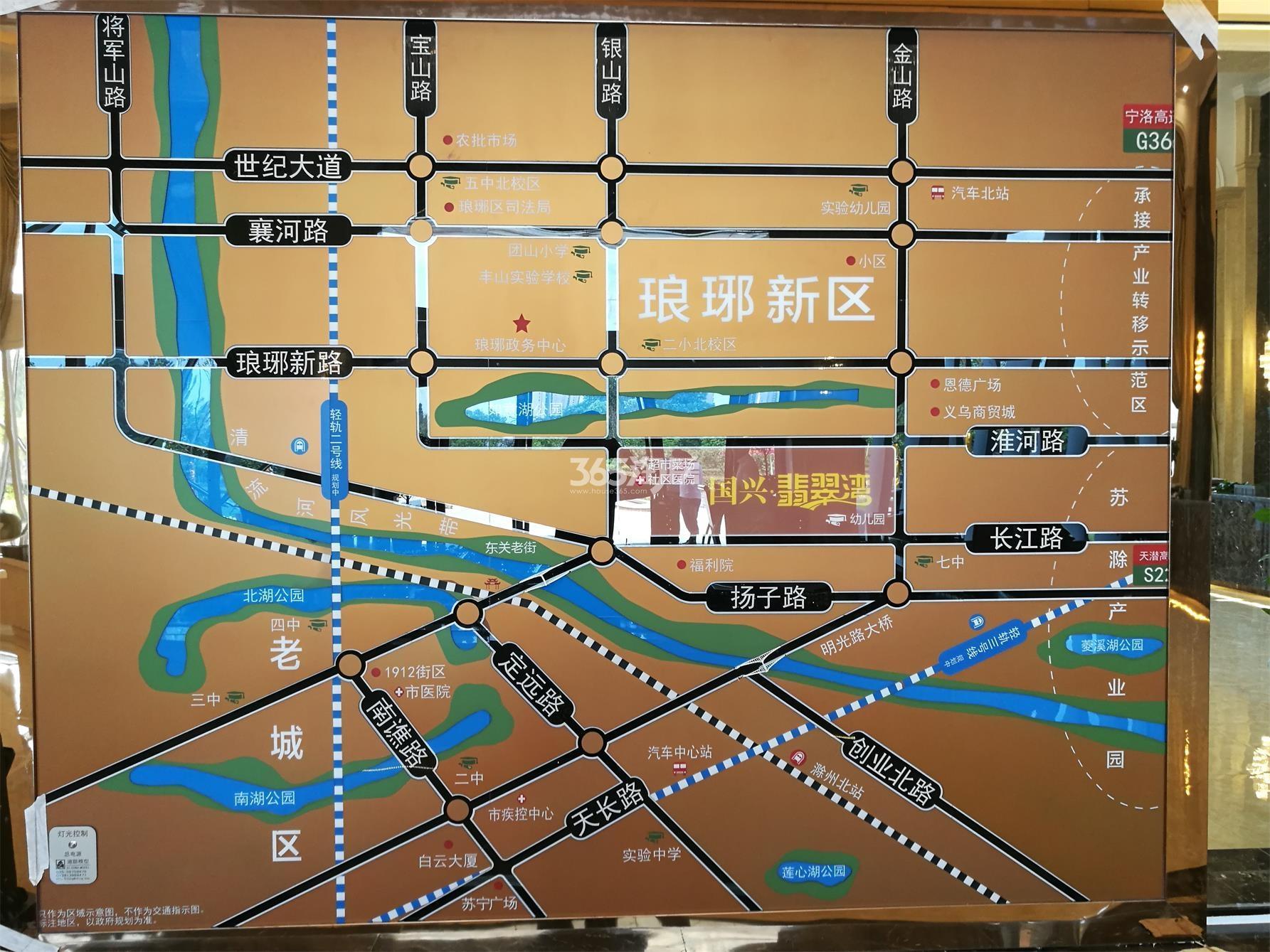 国兴翡翠湾交通图