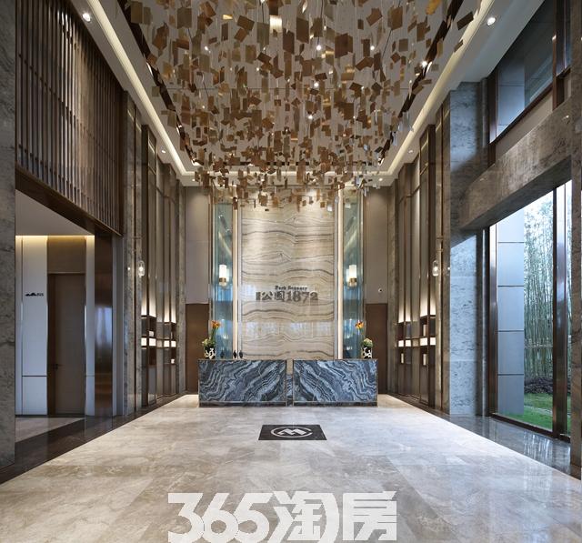 招商公园1872营销中心大堂实景图(2017.7)