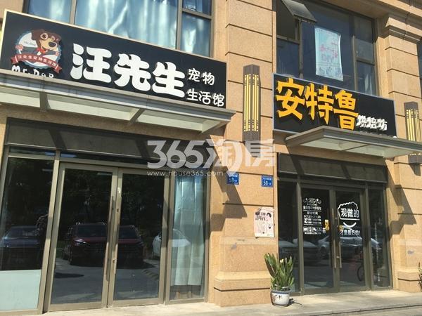 栖霞东方天郡沿街商铺实景图(2017.8 摄)
