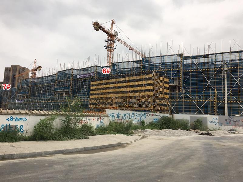 中国铁建西湖国际城6、7号楼施工实景(2017.8)
