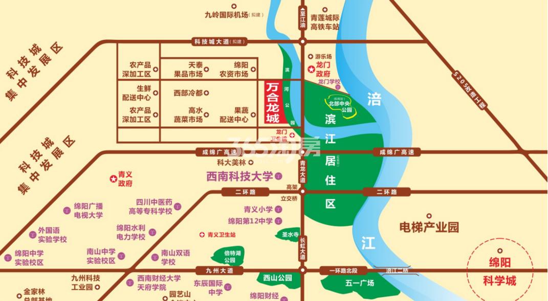 万合龍城交通图