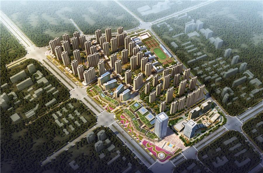 智慧锦城鸟瞰图