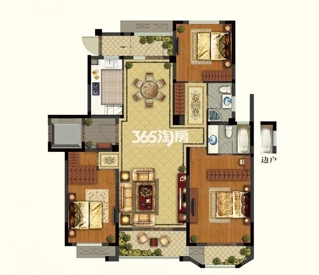 康诗丹郡25#、27#楼二层137.12-138.33平户型图