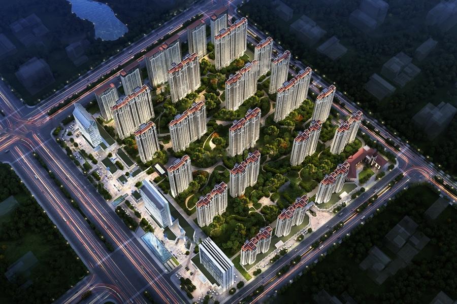 汇悦城项目鸟瞰图