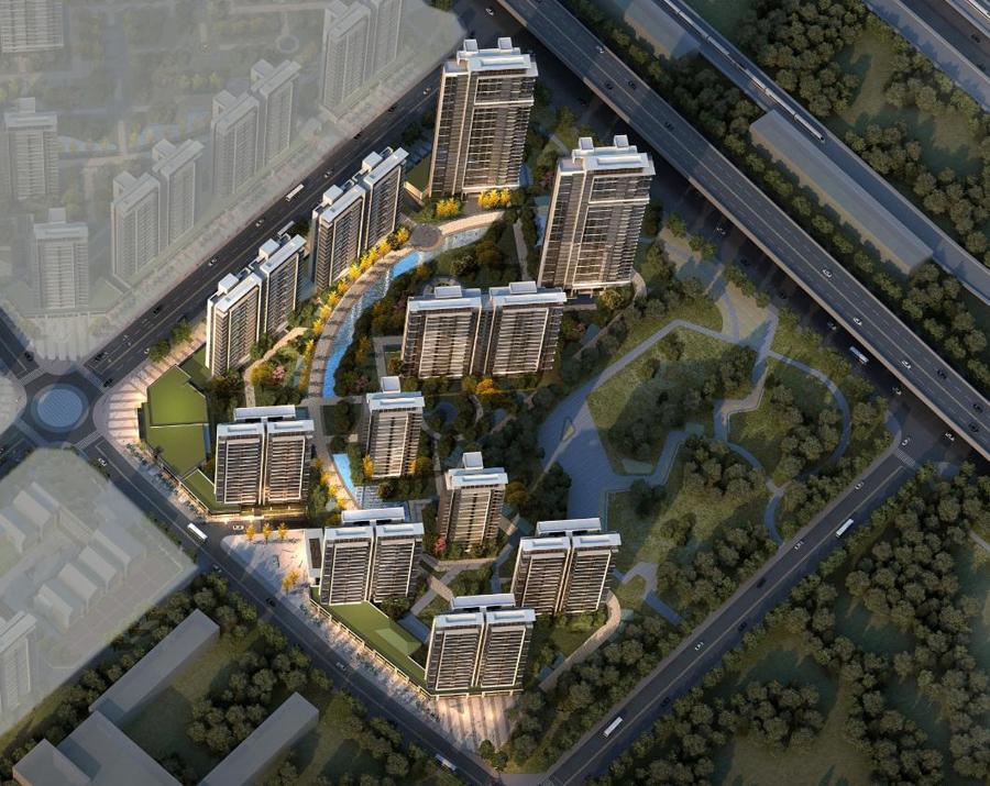 华侨城运河湾D地块鸟瞰图